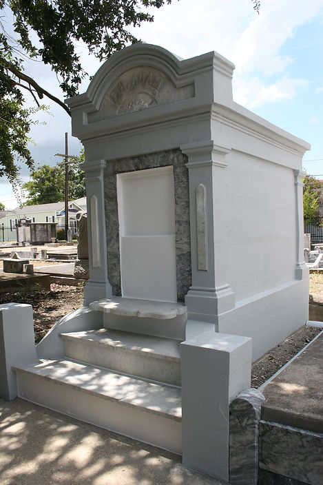New Orleans cemetery repair tomb cleaning painting
