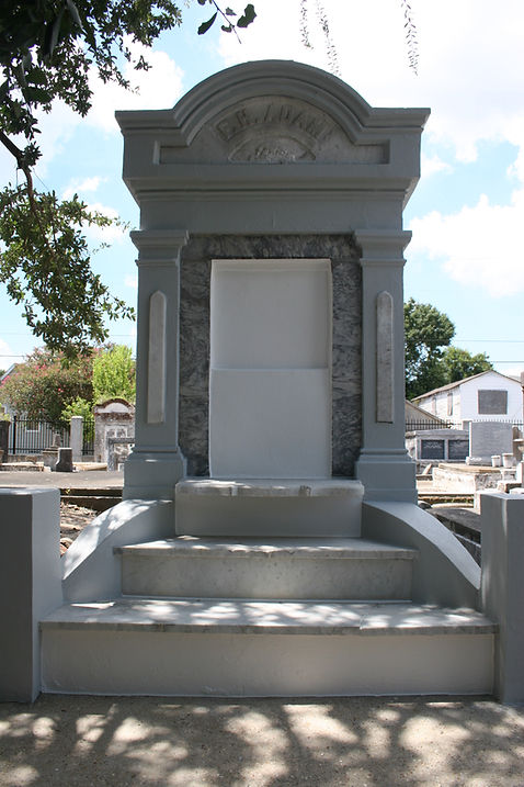 New Orleans cemetery repair tomb grave restoration cleaning painting