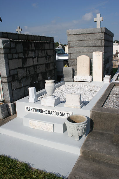 New Orleans cemetery repair, tomb restoration, tomb cleaning painting