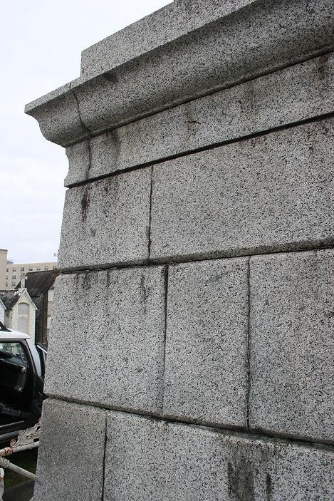 New Orleans cemetery repair, tomb repair, tomb restoration cleaning painting