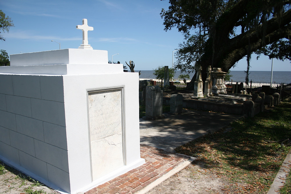 New Orleans cemetery restoration, tomb repair, tomb restoration, cemetery repair, grave cleaning painting renovation