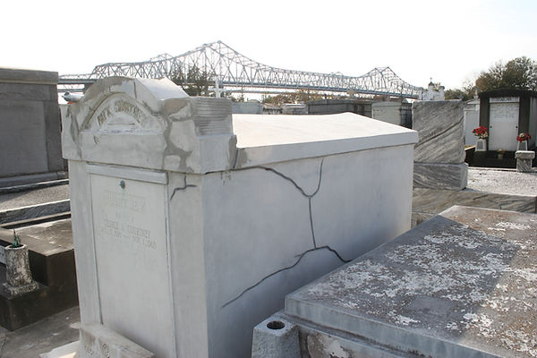 New Orleans cemetery repair, tomb restoration, tomb repair grave cleaning painting headstone