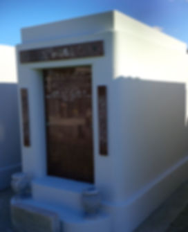 New Orleans tomb cleaning painting grave repair