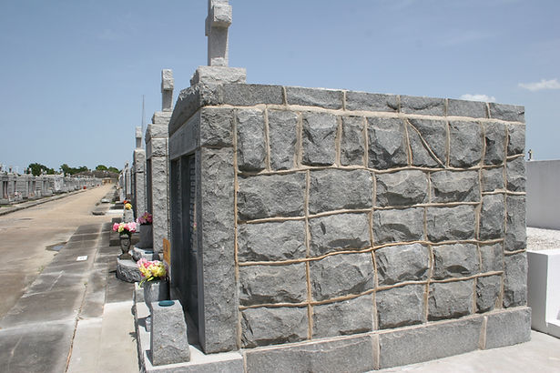 New Orleans cemetery repair, tomb restoration. tomb repair cleaning painting, headstone repair