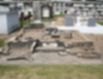 New Orleans cemetery repair, tomb restoration, cemetery restoration, tomb repair, grave cleaning painting