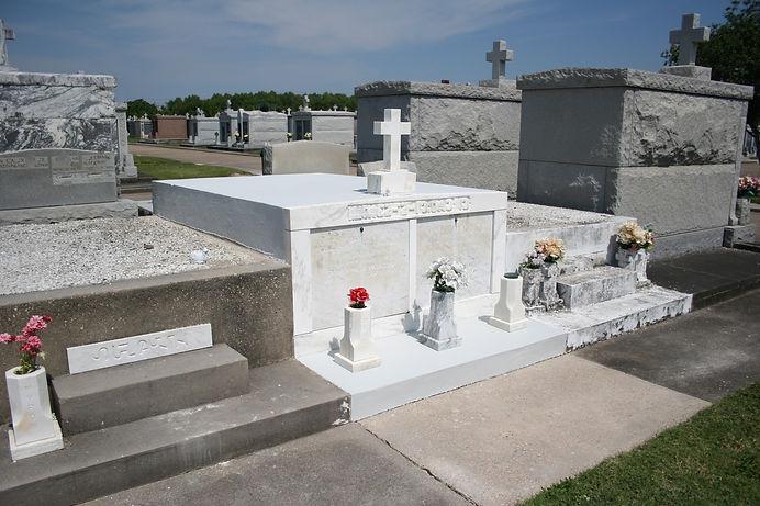 New Orleans cemetery restoration, tomb repair, tomb restoration, cemetery repair grave cleaning painting