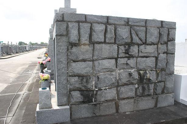 New Orleans cemetery repair, tomb repair, tomb restoration cleaning painting headstone repair
