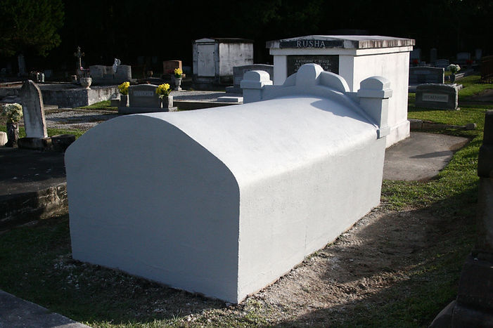 New Orleans cemetery restoration, cemetery repair, tomb restoration, tomb repair, New Orleans tomb grave cleaning painting