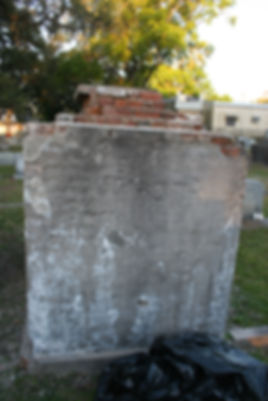 New Orleans cemetery repair, tomb restoration, tomb repair, cemetery restoration, New Orleans grave cleaning painting
