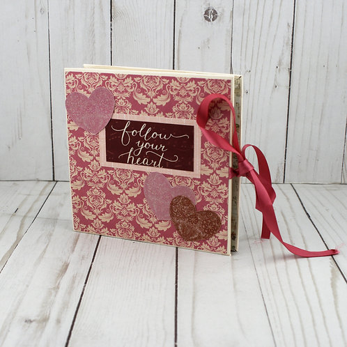 """Valentines Day Photos of Us """"Follow Your Heart"""" Accordion Memory Book"""