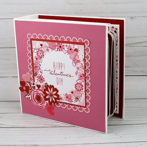 Happy Valentines Day Mini Album and Photo Scrapbook Journal