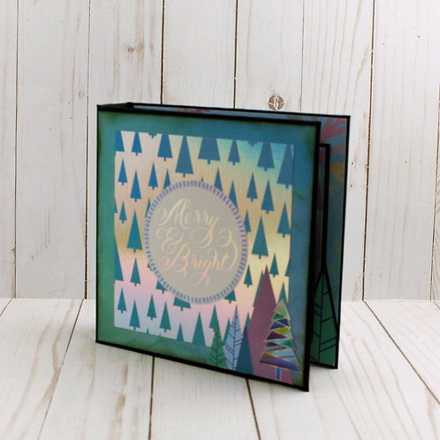 Merry and Bright Mini Scrapbook Album for photos and Journaling.