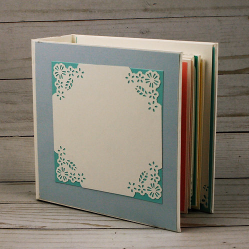 Polka Dots and Paper Lace Mini Scrapbook Album for photos