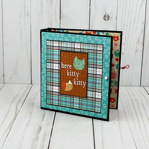 Here Kitty Kitty Mini Album for photos and scrapbooking