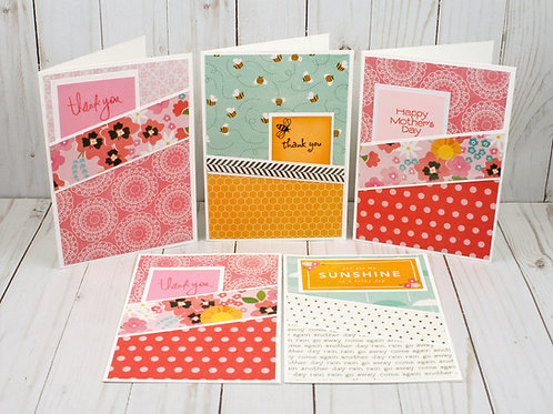 Handmade Greeting Card's includes  Thank You & Mother's Day. Spring Themed