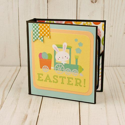 Easter Train Mini Album Scrapbook Album and Journal