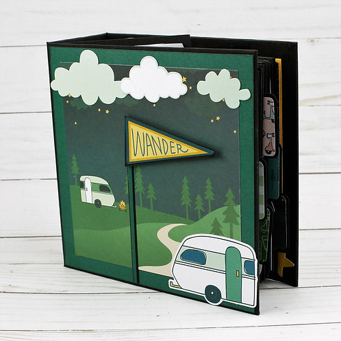 Wander Mini Photo Scrapbook Album for photos and journaling