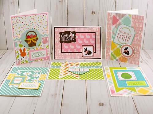 Assorted Easter Cards Set of 6 sized 5X7,