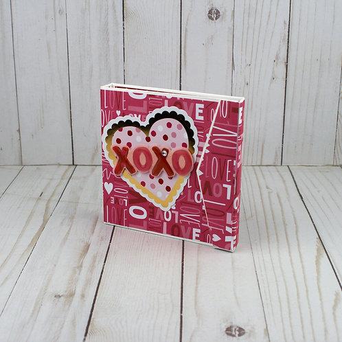 "Valentines Day Photos of Us "" XOXO"" Accordion Memory Book"