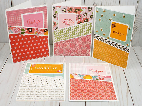 Handmade All Occasion Greeting Cards Sunshine assortment. Spring Themed