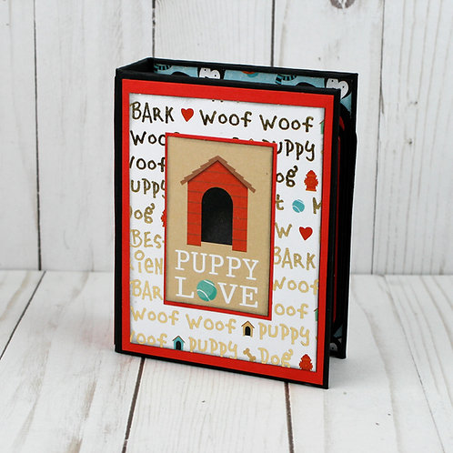 Puppy Love mini album for photos and journaling
