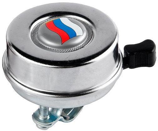 """Звонок хром """"Российский флаг"""""""