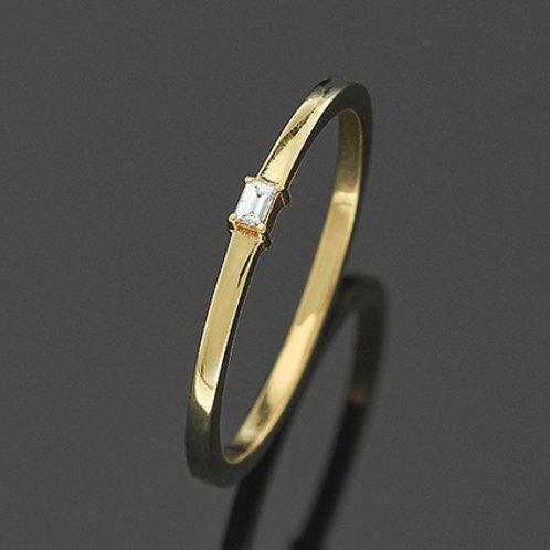 Kombiring AU585 Gelb, Diamant 0,03Ct., RKAU 33/09