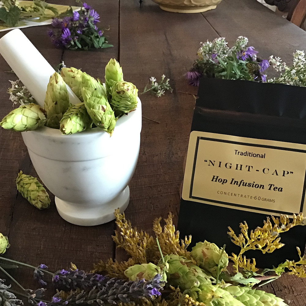 Hops Apothecary Image with 1862 Ancestral Hop Infusion Tea