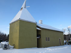 This is a replica Kent Oast created by Clear Valley Hops for drying the hops at low temperatures preserving the oil