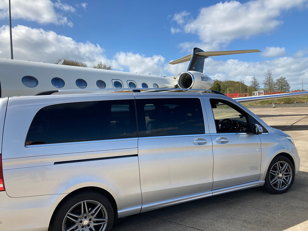 Parkers Mercedes V Class and Private Jet