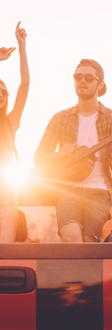 Ladeflächen-Gitarren-Session