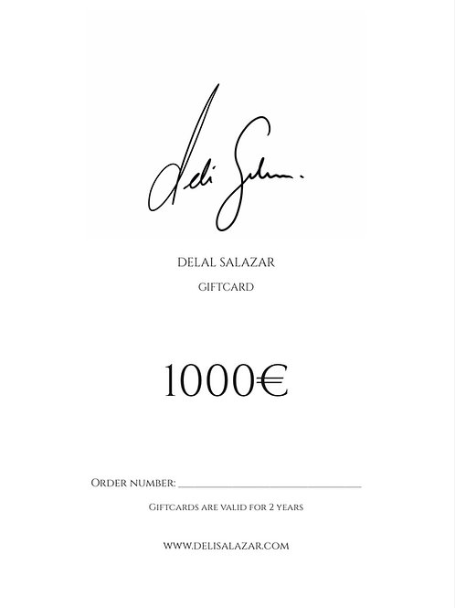 GIFTCARD 1000€