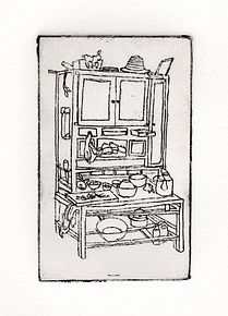 cabinet print china pantry caren king choi