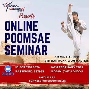 Online Poomsae Seminar