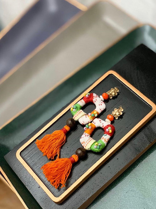 Yakan Retazo Handcrafted Banderitas Earrings