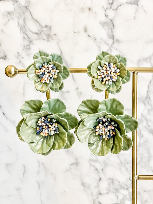 Rose Dangling Handcrafted Earrings