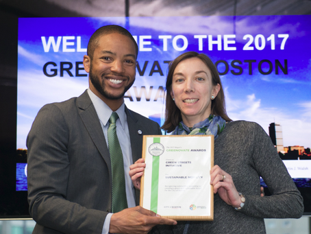 Green Streets Initiative Wins Greenovate Boston's Sustainable Mobility Award