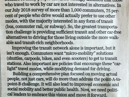 Boston Globe Comment Letter - 'I'd Rather Not be Driving'