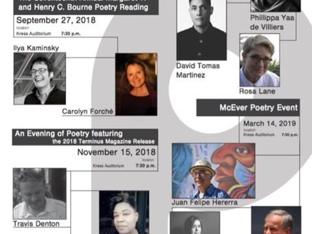 Poetry@Tech's 2018-2019 Reading Series