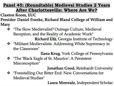 Medieval Studies after Charlottesville