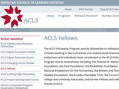 LMC's Kent Linthicum wins ACLS Fellowship