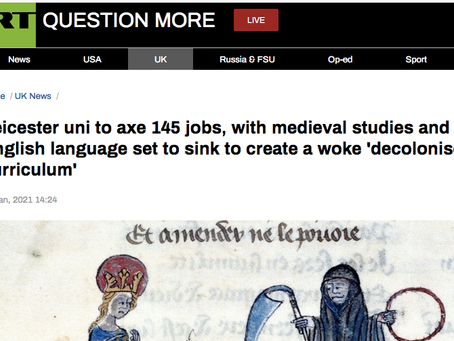 Medievally Speaking, on Neo-Liberal 'Decolonisation' and Medieval Studies