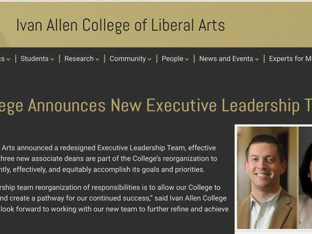 New position as Associate Dean of Faculty Development