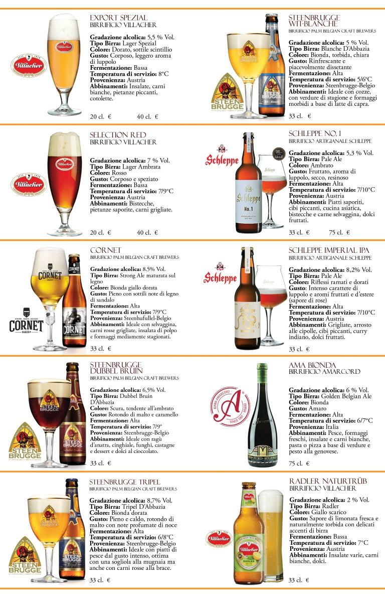 4 Carta delle birre