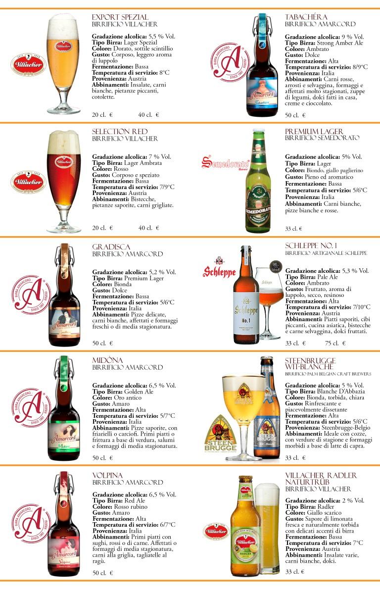2 Carta delle birre