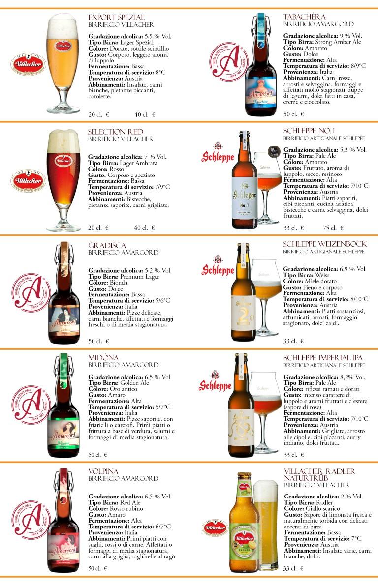 3 Carta delle birre