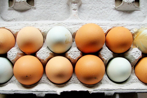 Яйца куриные от несушек свободного выгула (1 ДЕСЯТОК)