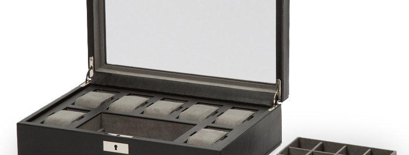 WOLF - Howard klokkeboks til 7 klokker m/reisewrap og lagringsrom