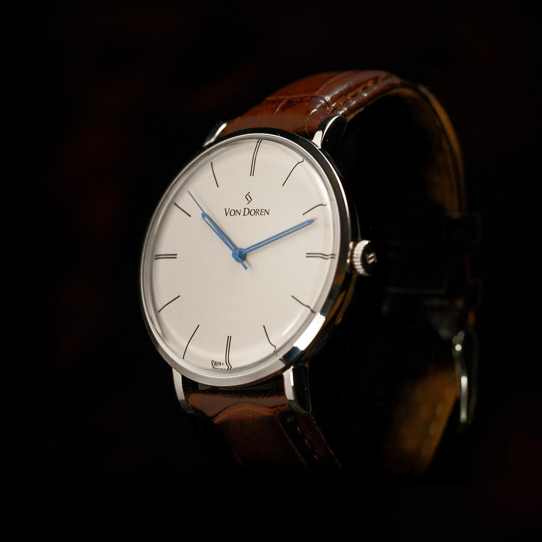 Von Doren antique hvit klokke