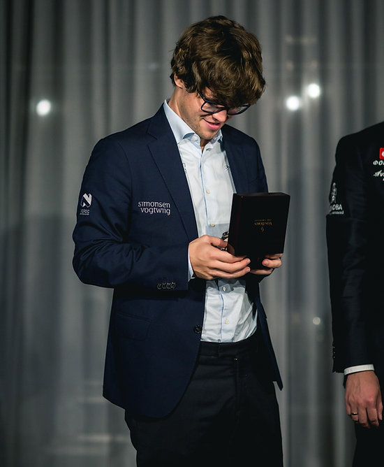 Grandmaster automatic watch and Magnus Carlsen